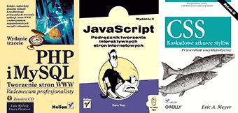 zestaw książek informatycznych
